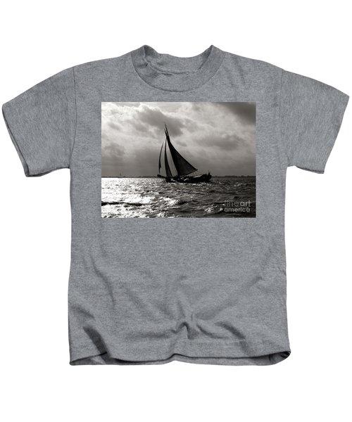 Black Sail Sunset Kids T-Shirt