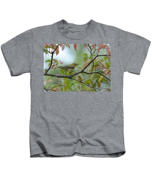 Blackpoll Warbler In The Fall Kids T-Shirt