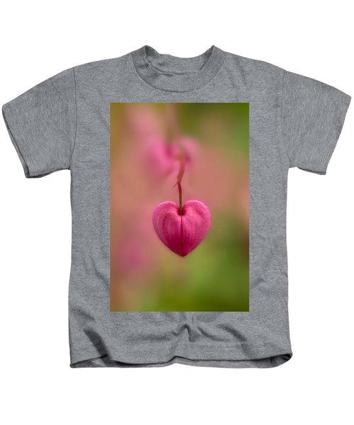 Bleeding Heart Flower Kids T-Shirt