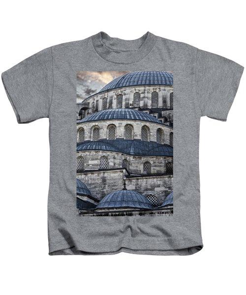 Blue Dawn Blue Mosque Kids T-Shirt