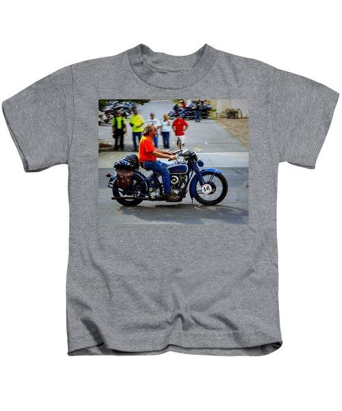 Blue Harley 46 Kids T-Shirt