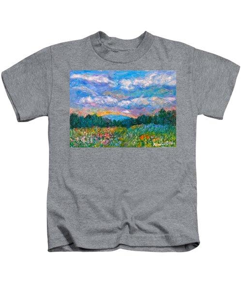 Blue Ridge Wildflowers Kids T-Shirt