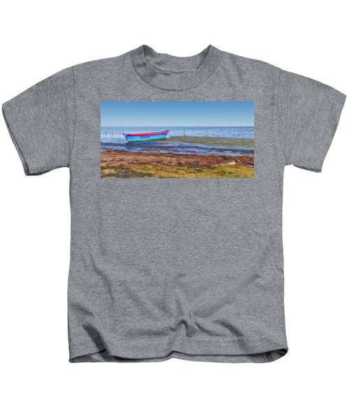 Boat At The Pond Kids T-Shirt