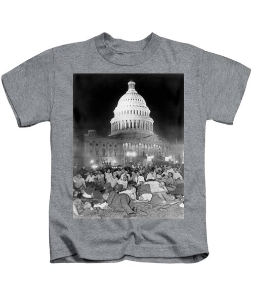 Bonus Army Sleeps At Capitol Kids T-Shirt by Underwood Archives