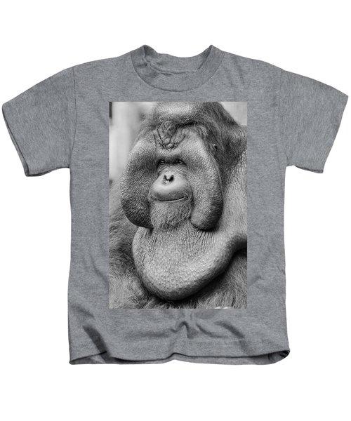 Bornean Orangutan IIi Kids T-Shirt by Lourry Legarde