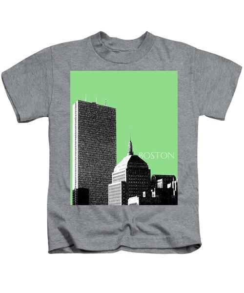 Boston Hancock Tower - Sage Kids T-Shirt
