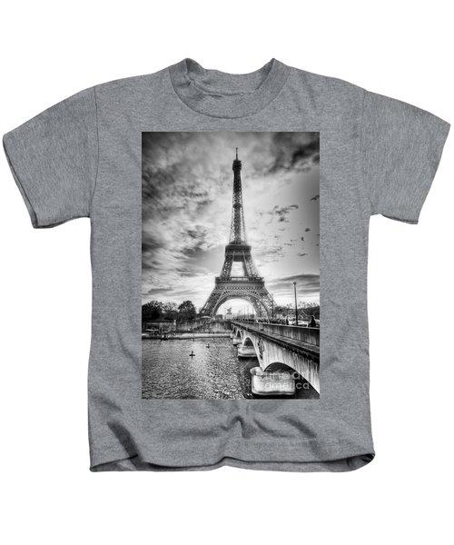 Bridge To The Eiffel Tower Kids T-Shirt