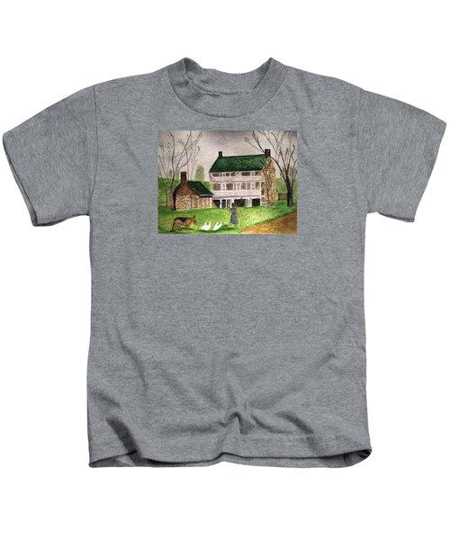Bringing Home The Ducks Kids T-Shirt