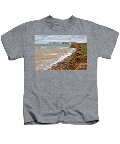 Brook Bay And Chalk Cliffs Kids T-Shirt