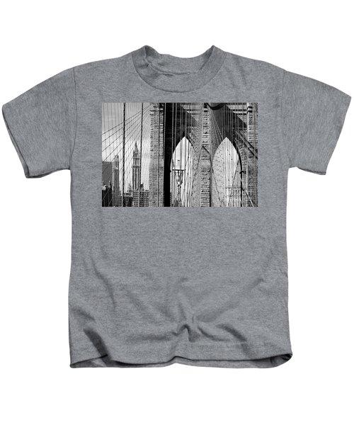 Brooklyn Bridge New York City Usa Kids T-Shirt
