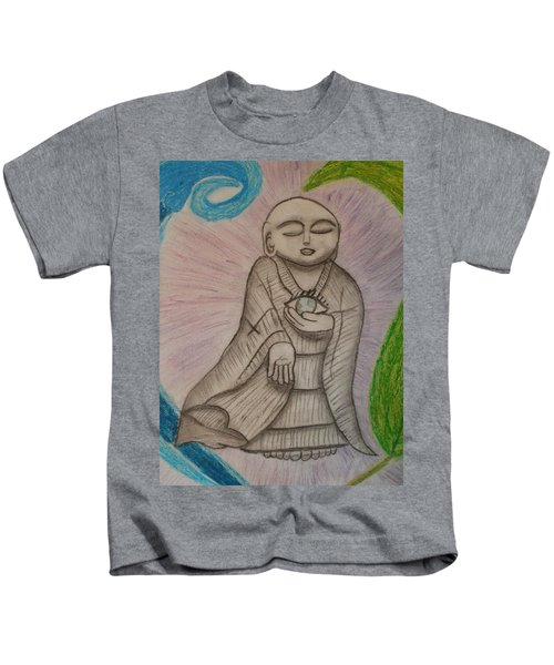Buddha And The Eye Of The World Kids T-Shirt