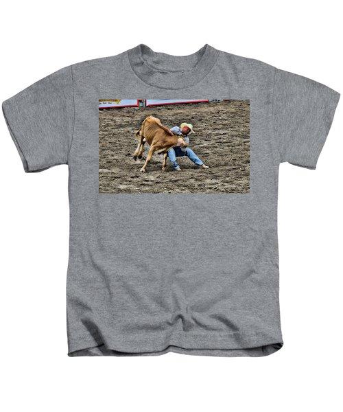 Bull Dogging Kids T-Shirt