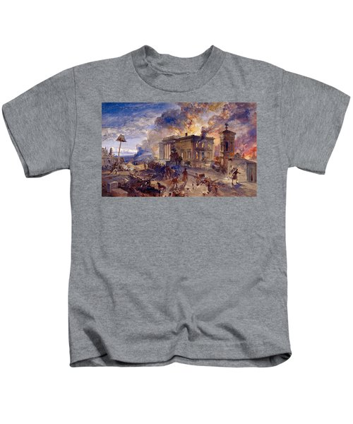 Burning Temple Of The Winds, 1856 Kids T-Shirt