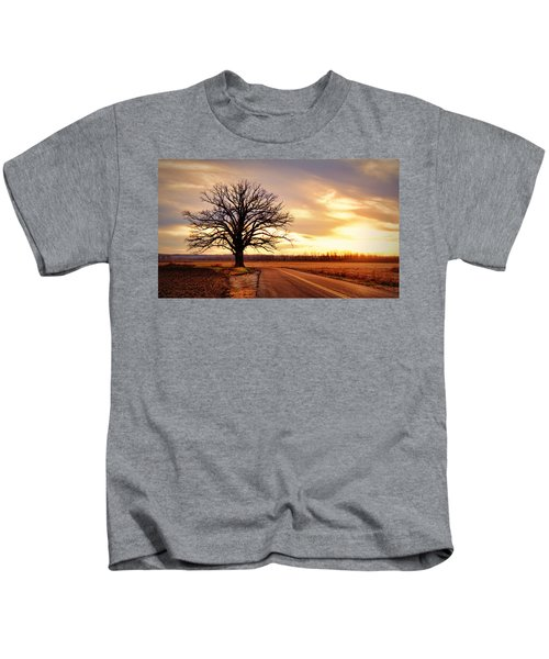 Burr Oak Silhouette Kids T-Shirt