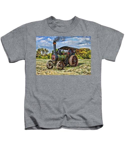 Burrell Steam Engine  Kids T-Shirt