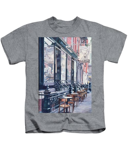 Cafe Della Pace East 7th Street New York City Kids T-Shirt