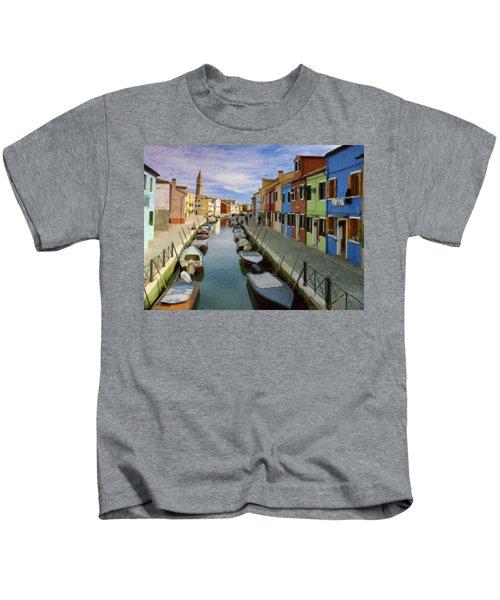 Canal Burano  Venice Italy  Kids T-Shirt