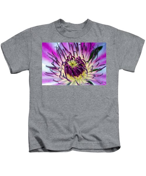 Candy Stripe Clematis Kids T-Shirt