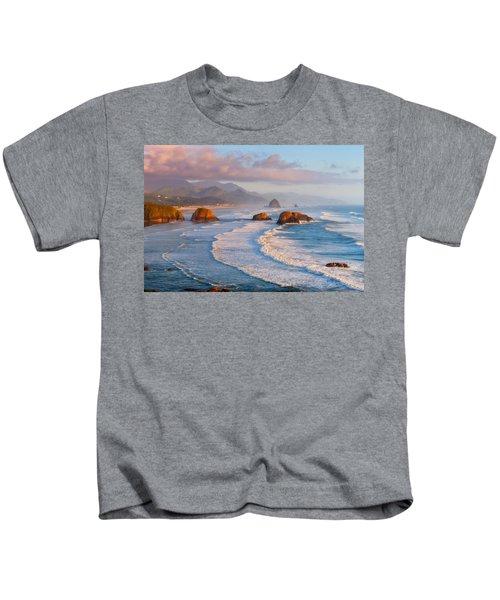 Cannon Beach Sunset Kids T-Shirt