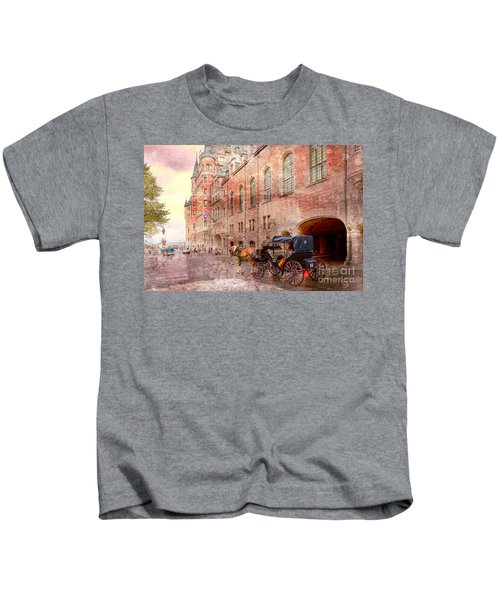 Carriage Ride In Canada 07 Kids T-Shirt