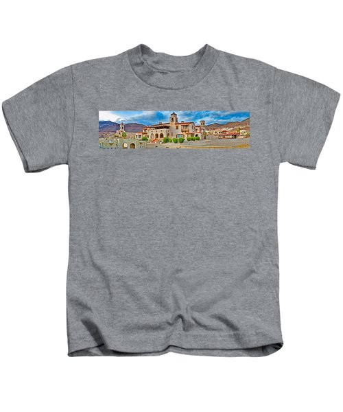 Castle In A Desert, Scottys Castle Kids T-Shirt by Panoramic Images