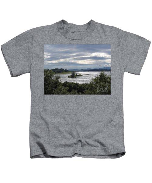 Castle Stalker On Loch Laiche Kids T-Shirt