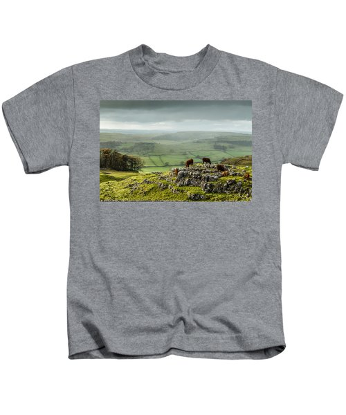 Cattle In The Yorkshire Dales Kids T-Shirt