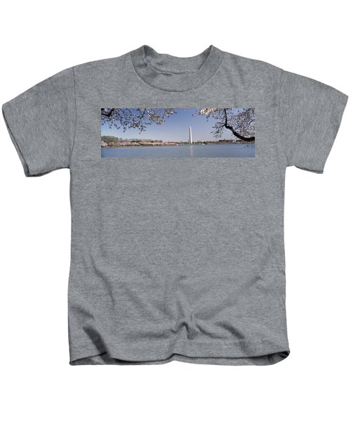 Cherry Blossom With Monument Kids T-Shirt
