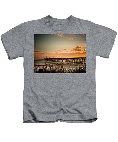 Cherry Grove Pier Myrtle Beach Sc Kids T-Shirt