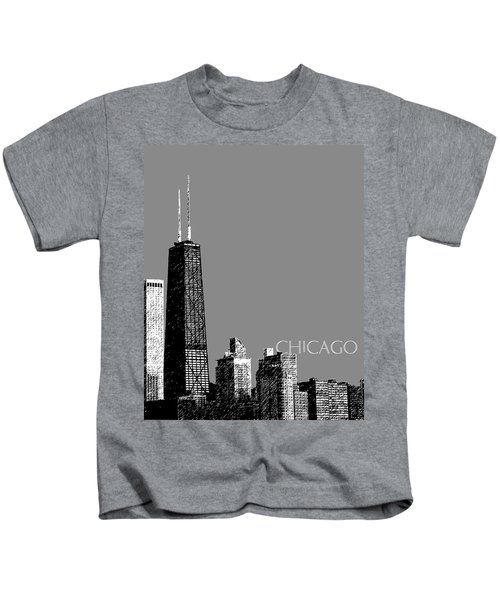 Chicago Hancock Building - Pewter Kids T-Shirt