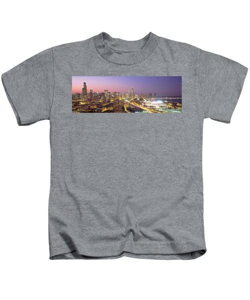 Chicago, Illinois, Usa Kids T-Shirt by Panoramic Images