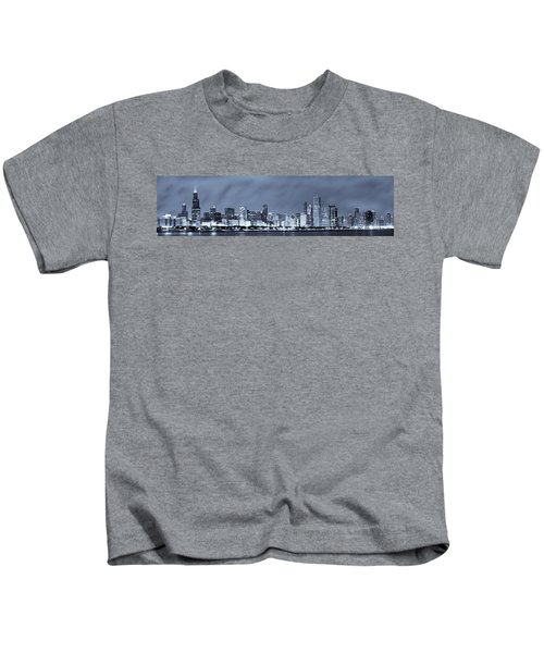 Chicago In Blue Kids T-Shirt