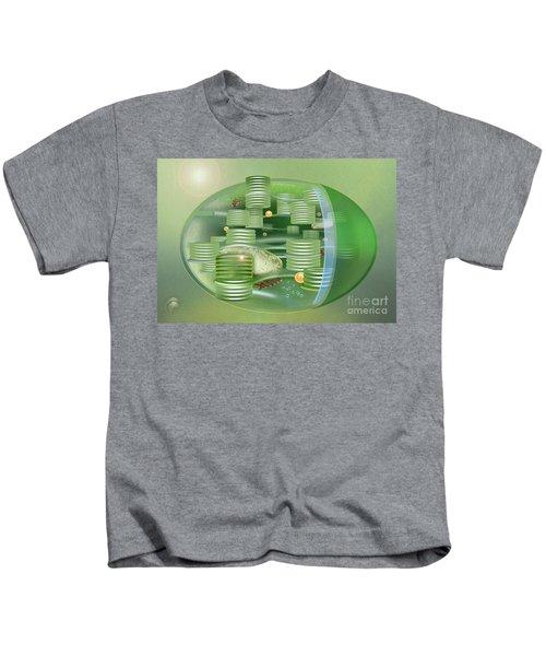 Chloroplast - Basis Of Life - Plant Cell Biology - Chloroplasts Anatomy - Chloroplasts Structure Kids T-Shirt