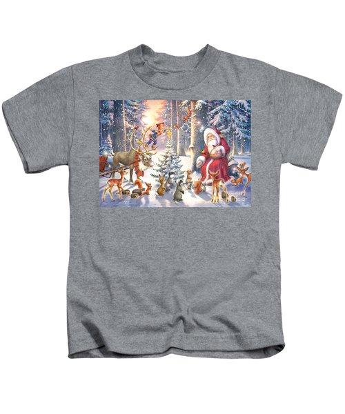 Christmas In The Forest Kids T-Shirt