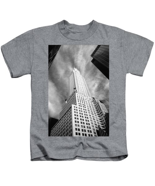 Chrysler Building Infrared Kids T-Shirt
