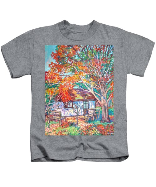 Claytor Lake Cabin In Fall Kids T-Shirt