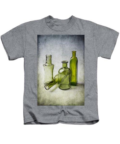 Clear Green Bottles Kids T-Shirt