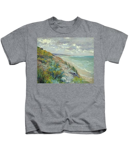 Cliffs By The Sea At Trouville  Kids T-Shirt