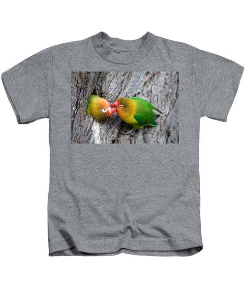 Close-up Of A Pair Of Lovebirds, Ndutu Kids T-Shirt