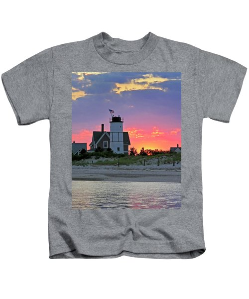 Cocktail Hour At Sandy Neck Lighthouse Kids T-Shirt