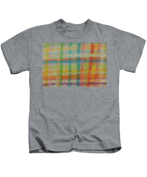 Colorful Plaid Kids T-Shirt