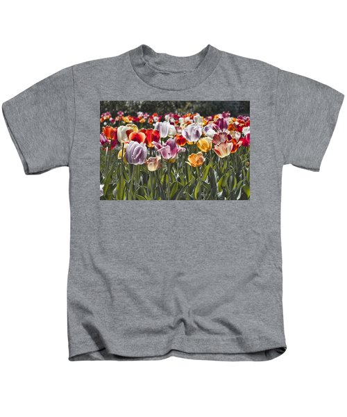 Colorful Tulips In The Sun Kids T-Shirt