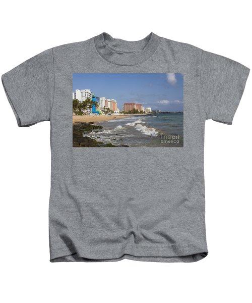 Condado Beach San Juan Puerto Rico Kids T-Shirt