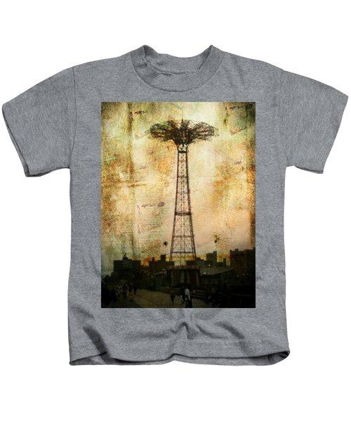 Coney Island Eiffel Tower Kids T-Shirt