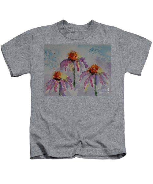 Crazy Cone Flowers Kids T-Shirt