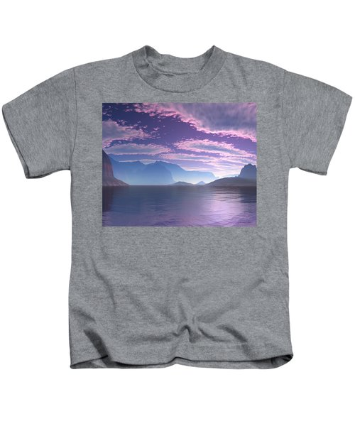 Crescent Bay Alien Landscape Kids T-Shirt