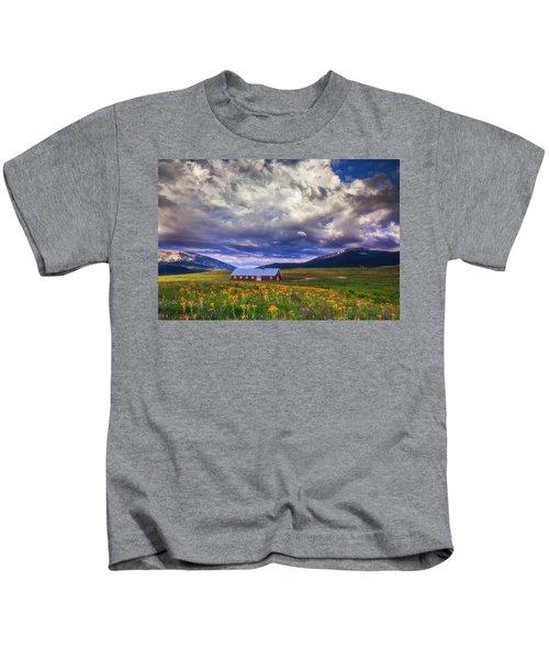 Crested Butte Morning Storm Kids T-Shirt