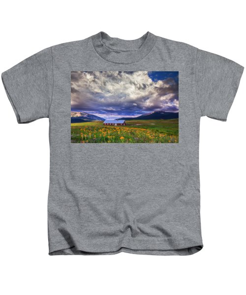 Crested Butte Morning Storm Kids T-Shirt
