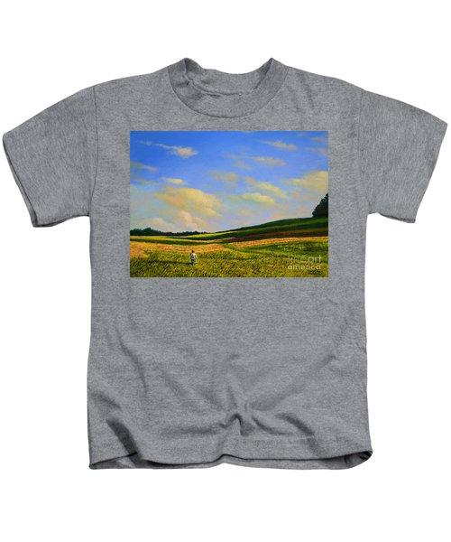 Crossing The Field Kids T-Shirt
