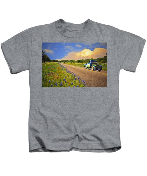 Crusin' The Hill Country In Spring Kids T-Shirt